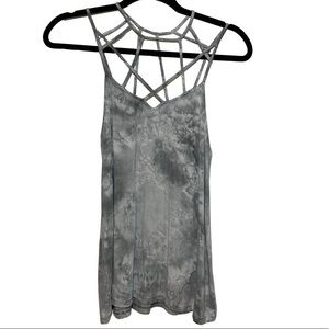 American Eagle Soft & Sexy Tie Dye Caged Tank Top